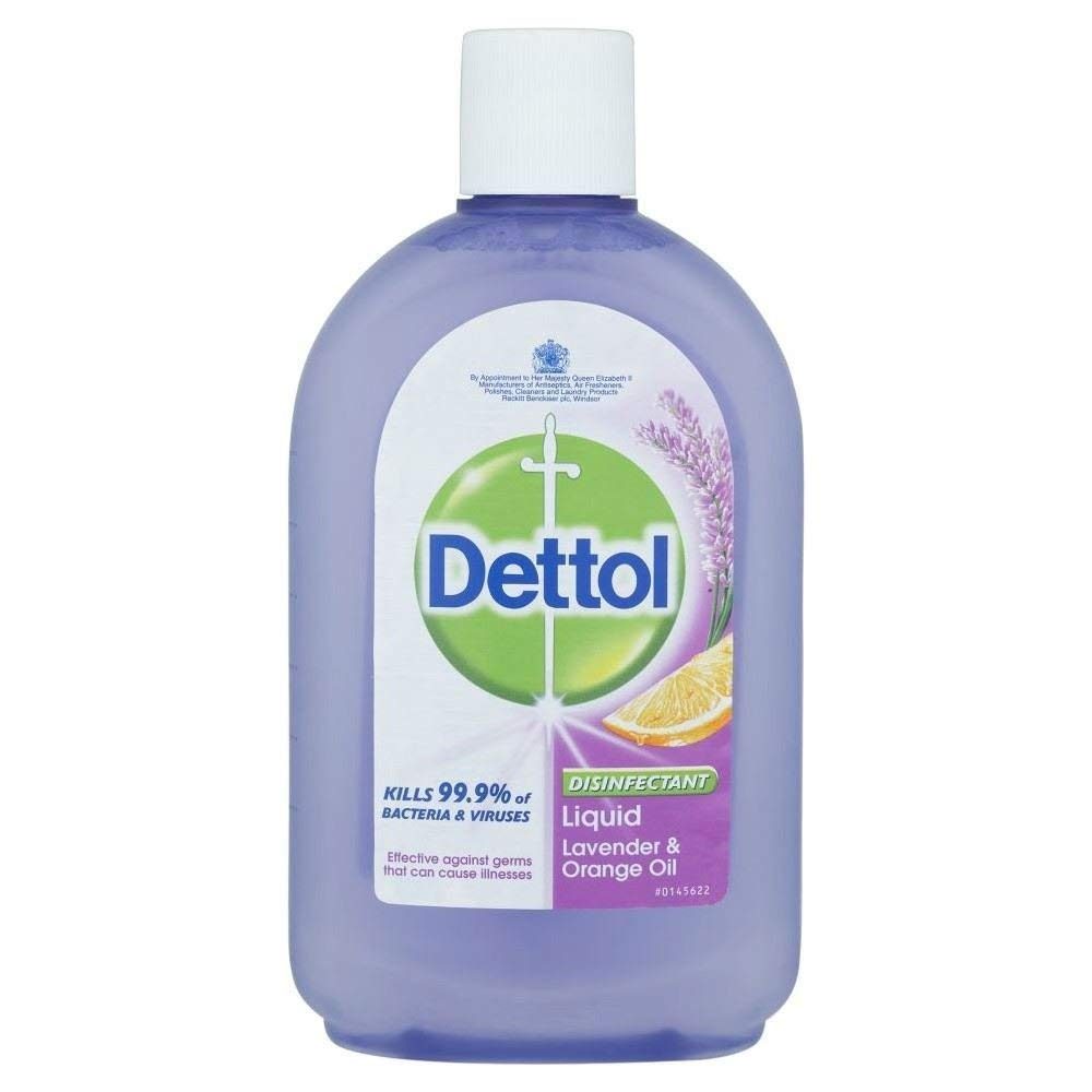 Dettol Disinfectant Liquid Lavender & Orange Oil (500ml) - Pack of 2