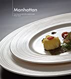 YUWANW Porcelain Dinnerware White Silk Western Steak/Stew/Soup Bowl Western Dishes Packaged, Small Plate 16.8Cm