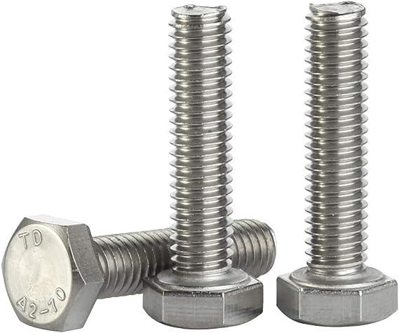 Hex Head Set Screw Stainless Steel -Grade 304 -Metric Coarse Thread 10mm M10
