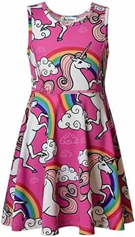 Jxstar Girls Unicorn Dress,Legging,Hoodie,Mermaid Dress,Legging,Hoodie