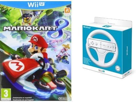 Mario Kart 8 + Volante color blanco: Amazon.es: Videojuegos