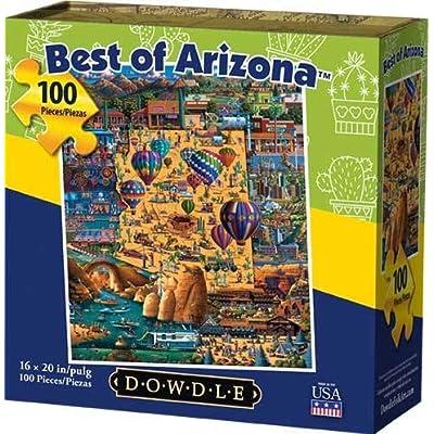 Dowdle Jigsaw Puzzle - Best of Arizona - 100 Piece: Toys & Games