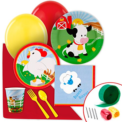 BirthdayExpress Farm Animal Party Supplies - Value Party Pack by BirthdayExpress