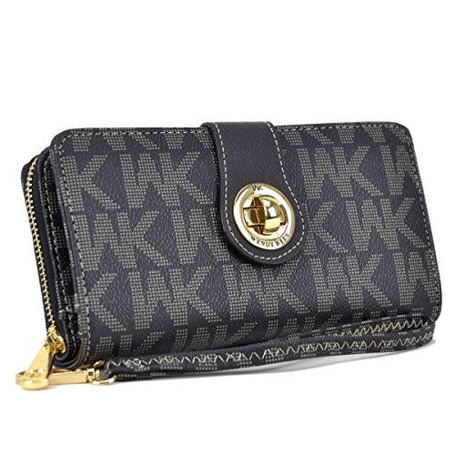 MKP Collection Card Case Wallets, Zip Around and Twist Lock Wallet. Wallet for woman,Wallet for all season.Fashion Wallet (912) Black by Maya Karis Purse