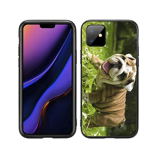Happy English Bulldog Puppy for iPhone 11 6.1 2019 Case Cover by Atomic Market 1