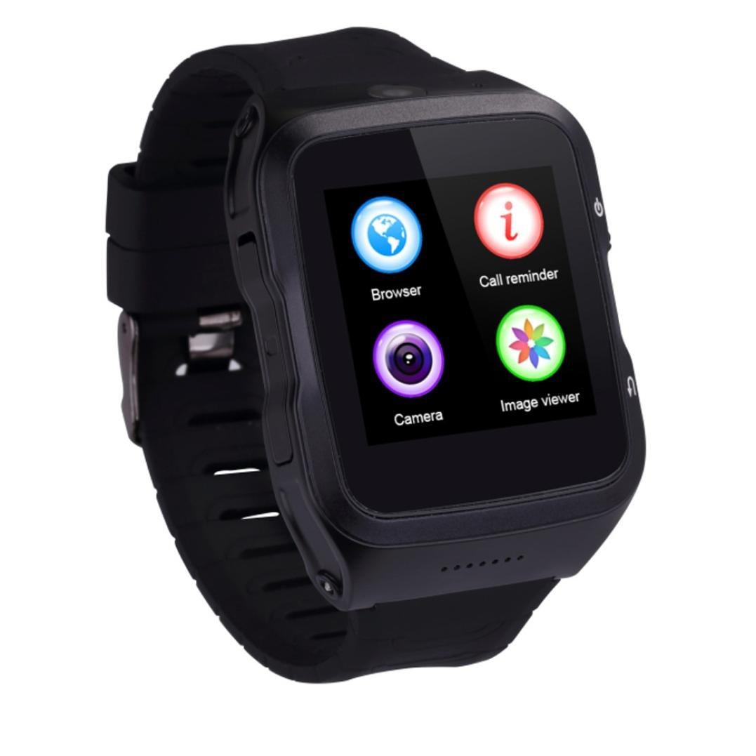 Reloj inteligente, Transer® US18 Bluetooth NFC inalámbrico HD ritmo cardíaco reloj inteligente para Android IOS: Amazon.es: Electrónica