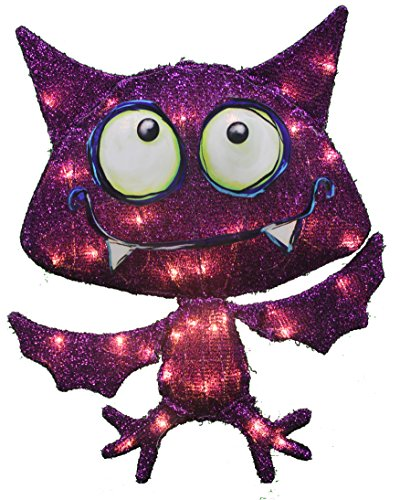 ProductWorks 24-Inch Pre-Lit 2D Victoria Hutto Bat Yard Decoration, 35 Lights by ProductWorks