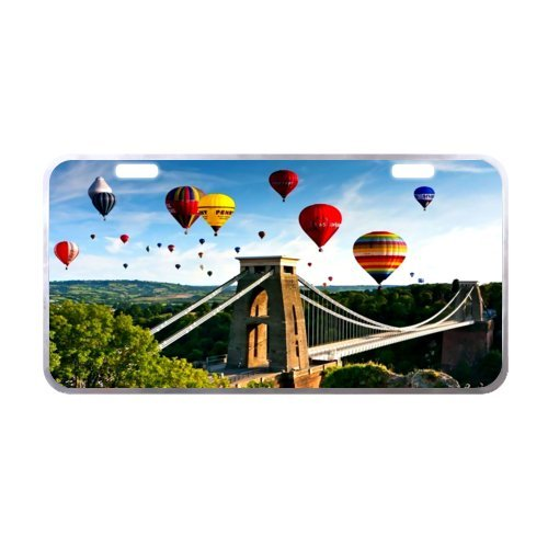 Air Balloons License Plate with Beautiful Design-11.8