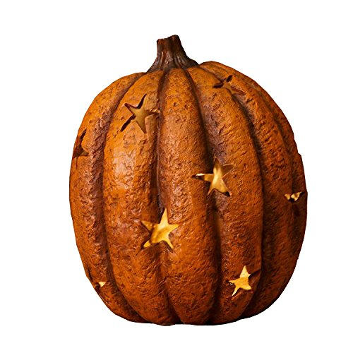 (Harvest Pumpkin Star Cutouts Light Up 5.5 x 7 Inch Polyresin Tabletop)