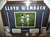 Abby Wambach & Carli Lloyd Usa Soccer Auto Signed Double Matted Framed Coa A - JSA Certified - Autographed Soccer Photos