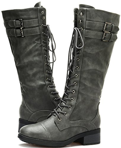 grey Pull Georgia Knee Boots Casual On Women's PAIRS DREAM GEORGIA High Furs Zqvwx6P