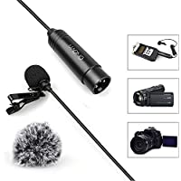 MAONO XL-10 XLR Omnidirectional Lavalier Microphone for ZOOM, Camcorders with Tie Clip and Windscreens (Foam and Furry)