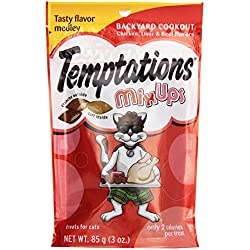 Whiskas Temptation Mix Ups Backyard Cookout Cat Treats, Chicken, Liver, and Beef, 3 oz
