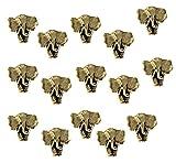 NEW ITEM LARGE ELEPHANT Push Pins antique Gold set of 15