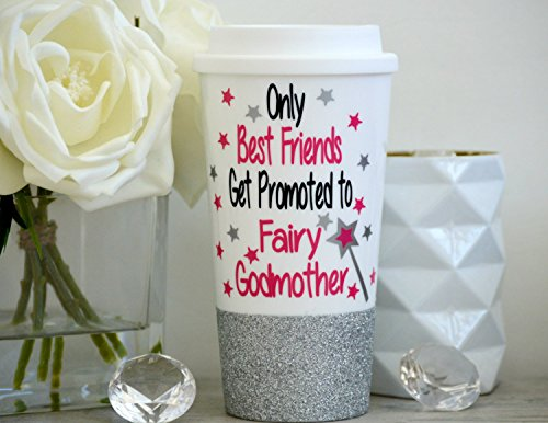 Only Best Friends Get Promoted to Fairy Godmother, Fairy Godmother mug, Fairy Godmother Gift, Godmother Mug, Godmother Gift, Best Friend Mug