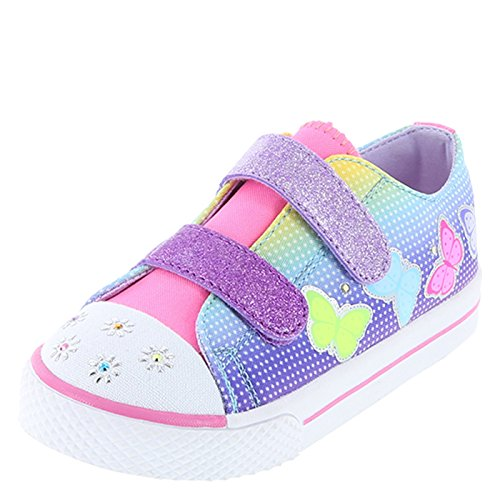 Airwalk Blue Pink Girls' Toddler Craze Double Strap Sneaker 11.5 (Double Strap Sneakers)