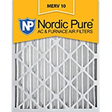 Nordic Pure 16x20x4 MERV 10 Pleated AC Furnace Air Filter, Box of 2