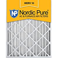 Nordic Pure 16x25x4 (3-5/8 Actual Depth) MERV 10 Pleated AC Furnace Air Filter, Box of 2