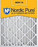 Nordic Pure 20x24x4 MERV 10 Pleated AC Furnace Air Filter, Box of 2