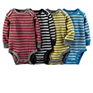 Carter's Baby Boys' 4 Pack Dark Stripe Bodysuits (Baby) - Dark Stripe 9M