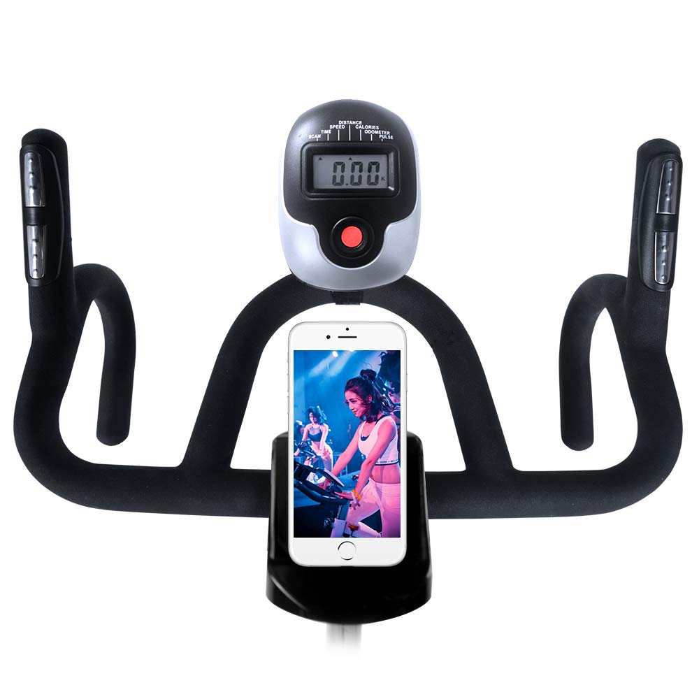 L NOW Indoor Cycling Bike Stationary Bike Smooth Belt Driven with Phone Holder (Model D600) by L NOW (Image #3)