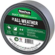 Nashua 398 Polyethylene Coated Cloth Professional Grade Duct Tape, 55 m Length, 48 mm Width, Silver