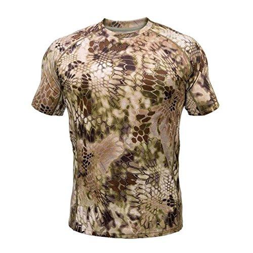 Kryptek Hoplite II Merino Wool SS Crew LW - Short Sleeve Camo Hunting Shirt (Baselayer Collection), Highlander, L ()