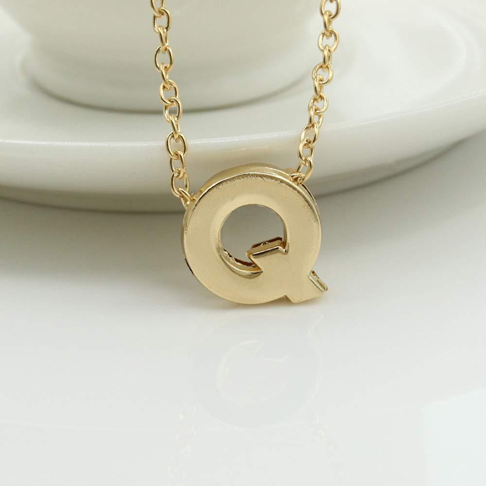 BEARCOLO DIY Gold A-Z Buchstabe Anh/änger Halskette Charm Frauen Schl/üsselbein Minimalistischen Choker Schmuck f/ür Frauen Geschenk
