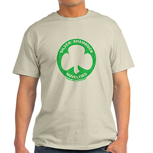 CafePress Silver Shamrock Faded Light T-Shirt 100% Cotton T-Shirt -