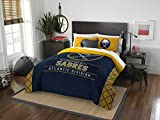 The Northwest Company Officially Licensed NHL Buffalo Sabres Draft Full/Queen Comforter and 2 Sham Set, Blue/Yellow