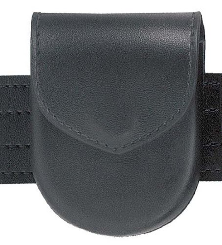 Magazine Case Belt - Safariland Duty Gear Hidden Snap Flap Top Handcuff Case (Plain Black)