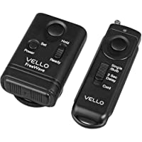 Vello FreeWave Wireless Remote Shutter Release (Canon Sub-Mini Connection) - Canon EOS: Elan series, Digital Rebel (300D), XT (350D), XTi (400D), XSi (450D), T1i (500D), T2i (550D), T3 (1100D), T3i (600D), T4i (650D), T5 (1200D), T5i (700D), SL1 (100D) and XS (1000D), 60D & 70D; PowerShot G10, G11, G12, G15, G16, G1 X & G1 X Mark II, SX50 HS