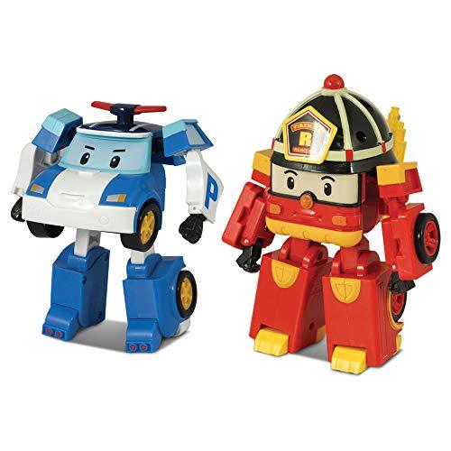 (2 팩)ROBOCAR POLI POLI+ROY 변형 로봇 4TRAMSFORMABLE 액션 장난감 그림 독점