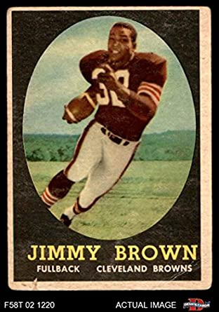 Jim Brown Football >> Amazon Com 1958 Topps 62 Jim Brown Cleveland Browns Fb