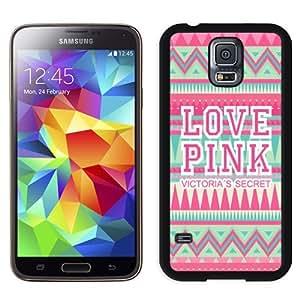 Unique Samsung Galaxy S5 Case Design with Victoria's Secret Love Pink 28 Black Samsung Galaxy S5 Phone Case