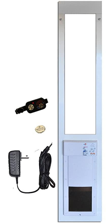 High Tech Pet Doors All Seasons Electronic Sliding Glass Cat U0026 Dog Door