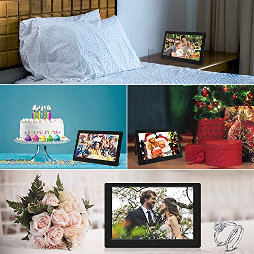 Tenswall 10 Inch Digital Photo Frame Upgraded HD 1280x800, Digital Picture Frame Full IPS Display Photo/Music/Video/Calendar/Time, Auto On/Off Timer, Support 32GB USB Drives/SD Card,Remote Control by Tenswall (Image #6)