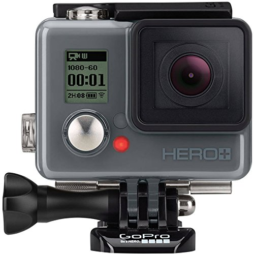 GoPro HERO+ Action Camera (Built-in Wi-Fi and Bluetooth Enabled, 1080p Movie, 8MP Photo, Waterproof to 131')