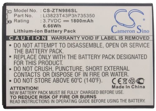 Li3823T43P3h735350 Battery - Replacement for ZTE Z777 / N...