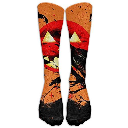 Happy Halloween Pumpkin Crow Compression Socks Football Socks Sports Stockings Long (Halloween Boot Camp Workout)