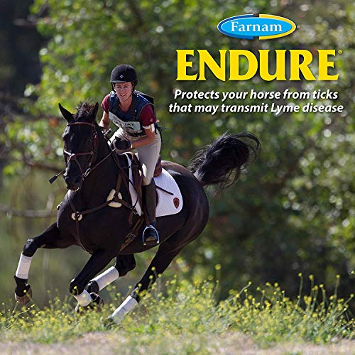 Farnam Endure Sweat-Resistant Fly Spray for Horses 14-Day Long Lasting Protection, 32 ounce ()