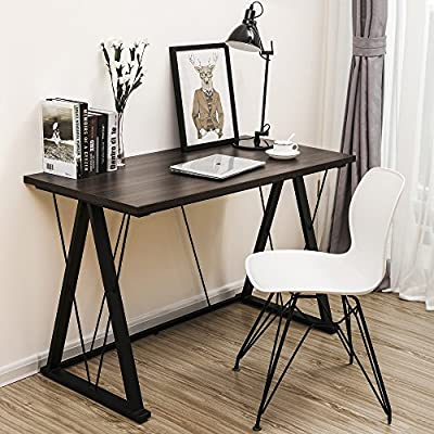 SONGMICS Modern Computer Desk Office Desk with Thickened Tabletop and Sturdy Metal Frame, Easy Assembly,Tools and Instructions Included, ULWD13S from Songmics