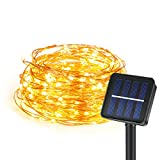 Kohree Solar Powered String Lights Indoor/Outdoor Fairy Lights Copper Wire Lights Waterproof Ambiance Lighting for Gardens, Patios, Homes, Parties All Decorations (Warm White) [120 LED 6 Meters]