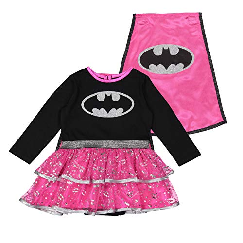 Warner Batgirl Toddler Girls' Costume Dress with Cape, Pink 3T -