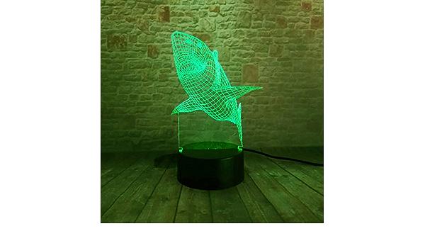 La ilusión óptica de la lámpara visual 3d de wangZJ llevó la ...