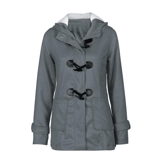 Overdose Moda Mujer Rompevientos Outwear Warm Wool Slim Long Coat Jacket Top Trench Sudadera con Capucha De La SeñOra Sudadera