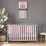 PURE SAFETY Vertical Crib Liners in Blush Cotton 2