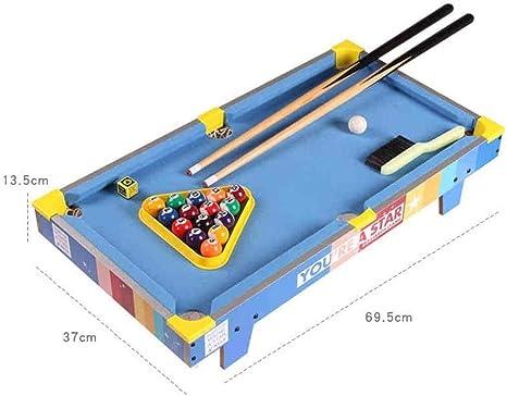 ZZXXB Una Mesa de Billar de los niños de Mini Billar Juguetes de los Muchachos Juegos de Mesa Juguetes caseros Juguetes interactivos (Color: Azul, Tamaño: 69,5 * 37 * 13.5cm) Judith: Amazon.es: Electrónica