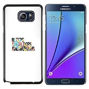 Caucho caso de Shell duro de la cubierta de accesorios de protección BY RAYDREAMMM - Samsung Galaxy Note 5 5th N9200 - Pitidos y bloops