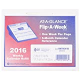 AT-A-GLANCE Flip-A-Week Weekly Refill 2016, 12 Months, 5.63 x 7 Inch Page Size, Base Sold Separately (SW705X50)